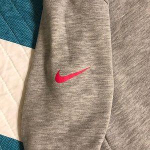 Nike Tops - Dri-Fit Grey and Pink Nike Sweatshirt
